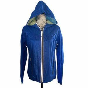 Halifax Hooded Women's Packable Rain Jacket Size L